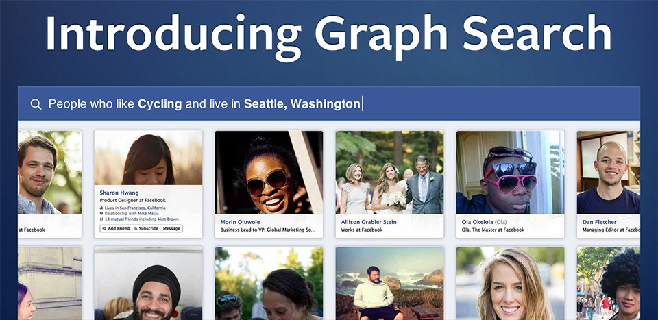Facebook gráf kereső